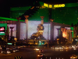 Lion statue adorning the façade of the MGM Grand (as is seen roaring in the beginning of all MGM movies).