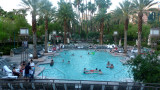 The swimming pool at the MGM Grand hotel.
