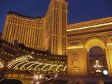 View of l'Arc de Triomphe with Ballys Casino Resort next door.