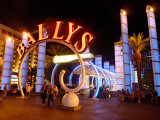 Spectacular entrance to Ballys Casino Resort from the strip.