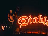 A devilish sign for the Diablo Cantina Restaurant on the Las Vegas strip.