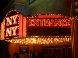 Glitzy entrance to New York, New York.