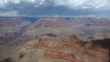 The South Rim of Grand Canyon averages 7,000 feet or 2,134 meters above sea level.