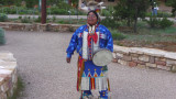 A Native American at the Grand Canyon possibly from either the Havasupai or Hualapai Indian Reservations nearby.