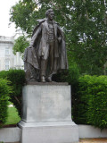 Statue of Franklin Pierce on the State House grounds. He was both handsome and patrician-looking.