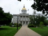 View of the golden-domed state house which was built in 1819.
