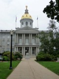 Closer view of New Hampshire's State House.