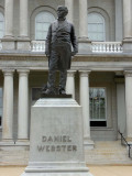 Statue of Daniel Webster (1782-1852) who was also from NH and was a famous Whig Party Senator, Secretary of State and orator.