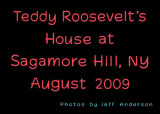 Teddy Roosevelt's House at Sagamore Hill cover page.