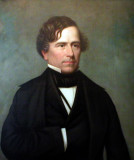 Oil painting of a distinguished-looking Franklin Pierce.