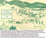 President Calvin Coolidge State Historic Site Map.