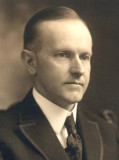 Photo of Calvin Coolidge.  He was a shy and taciturn man.