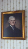 The portrait of Thomas Jefferson in the Formal Parlor must have added gravitas to the political discussions there!