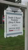 Entrance sign to the Franklin D. Roosevelt Presidential Library & Museum.