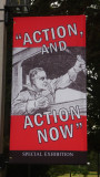A Depression era poster near the FDR library & museum.  Roosevelt tried to get the country moving during the Depression.