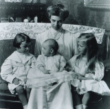 Eleanor with 3 of their children.  Motherhood was difficult for her since she was not well nurtured herself.