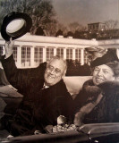 Franklin and Eleanor when they were older, after Franklin was reelected President for the third time in 1940.