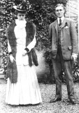 Franklin and Eleanor after they were married.  They were married on St. Patrick's Day, 1905. Teddy Roosevelt gave Eleanor away.