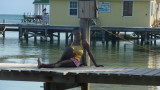This Belizean girl did not like me taking her picture.