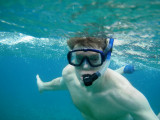 Shot of me snorkeling, looking like a fish out of water!