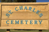 St Charles Cemetery Sign