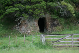 Because of its coolness, this shallow tunnel was used to store meat and butter. Later as a smoke-house for mullet 0574.JPG