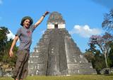 Tall Dude at Tikal National Park