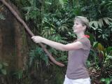 Robin (Jane) About to Swing through Jungle