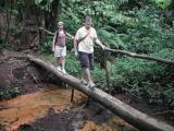 Robin & Chip Trekking in Volcano Tenorio National Park
