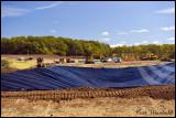 Lining an impoundment pond