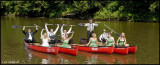 Bridal party canoes