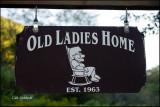 A camp sign on Lyman Run Road