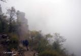 Fog on initial descent