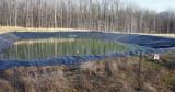 Holding pond, fresh water
