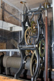 Clock mechanism inside courthouse tower