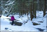 Snowshoeing Dingman Run