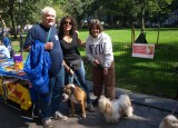Me and Donna and Yuji with Maria Milito and her rescue boxer