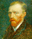 Van Gogh self portrait at AIC