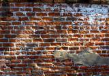 Ancient wall at the Pirates house in Savannah