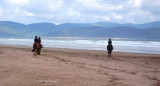 Pony trekking at Inch Beach on the Dingle Peninsula