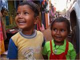 Two boys in the small fishermen town Gokarn, Karnataka.