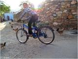Boy on bicycle in Udaipur