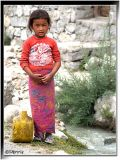 Girl in the small village named Panamik in the Nubrah vally - Ladakh