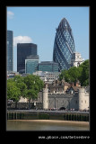 Tower of London & The Gherkin, London