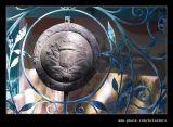 Shield outside Anchor & Fountain,Portmeirion