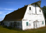 Large old abandoned barn