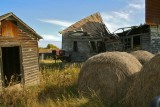 Ruin among the bales