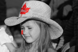 My neice Madison enjoying the late day sunshine at the rodeo.