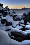 Snow Capped Boulders