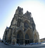 Reims Cathedrale.  (3 photos merged together)